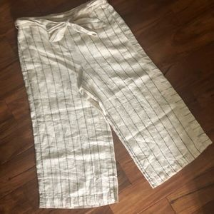Anthropologie Portia Linen Wide Leg Pants